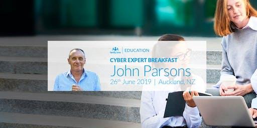 Cyber Expert Breakfast: John Parsons in Auckland