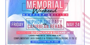MEMORIAL WEEKEND ROOFTOP EDITION HIPHOP Therapy vs Cari...