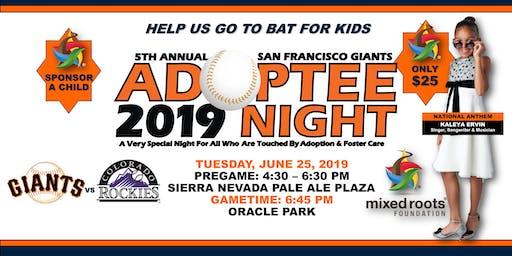 5th Annual SF Giants Adoptee Night + VIP Pregame Reception Ft. KALEYA