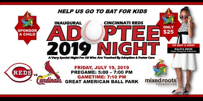Inaugural Cincinnati Reds Adoptee Night + VIP Pregame Reception Ft. KALEYA