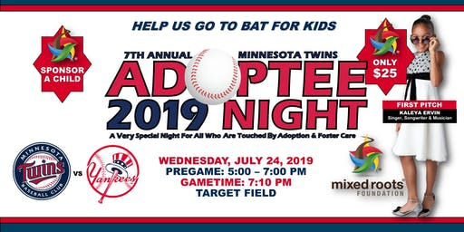 7th Annual MN Twins Adoptee Night + VIP Pregame Reception Ft. KALEYA + Grammy Award Winning Sounds of Blackness