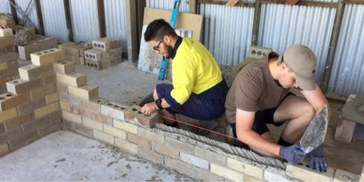 Trades - Bricklaying - Chisholm Winter School Holiday Workshops 2019