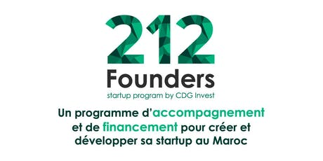 212 Founders by CDG Invest | Afterwork Entrepreneurs Casablanca #5 billets