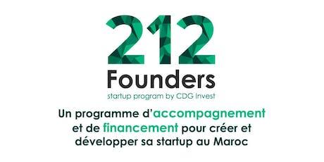 212 Founders by CDG Invest | Afterwork Entrepreneurs Casablanca #4 billets