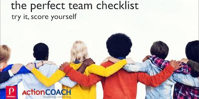 Build A Winning Team - The Checklist