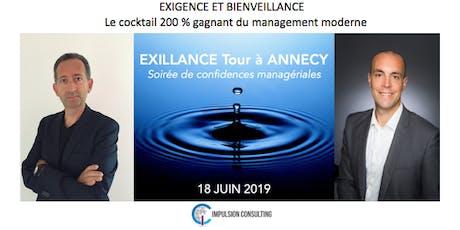 Exillance Tour Annecy : Soirée de confidences managériales - Mardi 18 juin 2019 billets