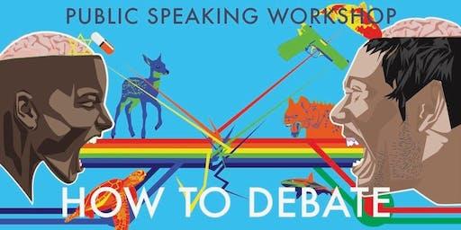 Let's Debate| Public speaking workshop