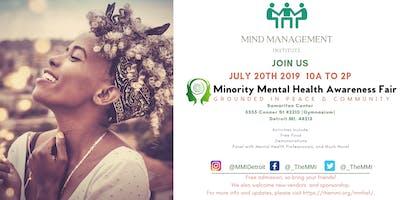 Minority Mental Health Awareness Fair: Grounded in Peace & Community