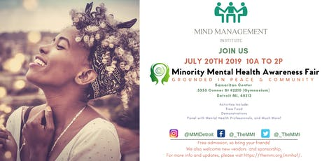Minority Mental Health Awareness Fair: Grounded in Peace & Community tickets