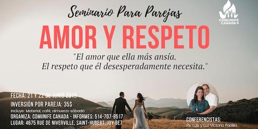 """Seminario para Parejas """"Amor y Respeto"""""""