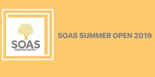 SOAS Summer Open 2019