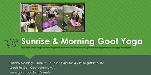 Sunrise Goat Yoga & Continental Breakfast