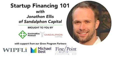 September Startup Financing 101 with Jonathon Ellis of Sandalphon Capital tickets