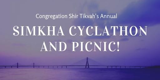 Simkha Cyclathon and Picnic: A Fundraiser for Congregation Shir Tikvah