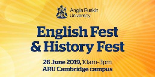 Anglia Ruskin University: English Fest and History Fest