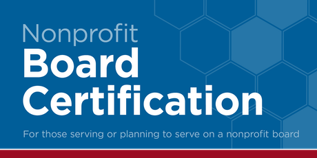 Nonprofit Board Certification tickets