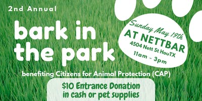 2nd Annual Bark in the Park