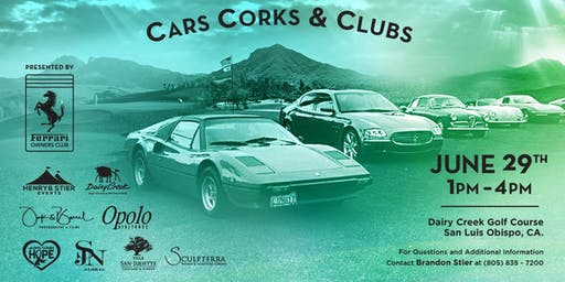 Cars, Corks & Clubs