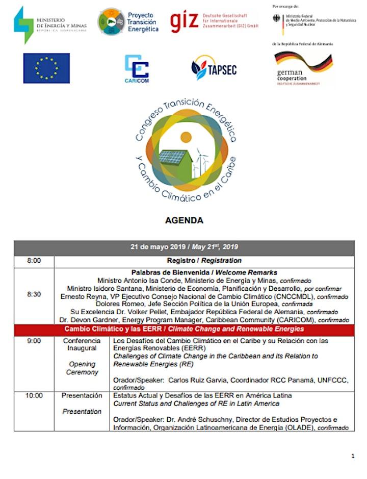Imagen de CONGRESO DE TRANSICIÓN ENERGÉTICA Y CAMBIO CLIMÁTICO EN EL CARIBE.