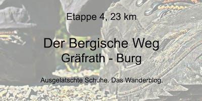 Wanderung auf dem Bergischen Weg - Etappe 4: Von Gräfrath nach Burg (23 km)