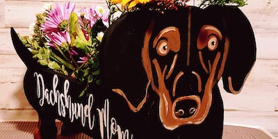 Join us to paint your own Dashchund box Class