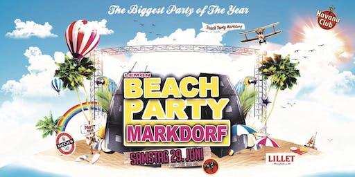 BEACH PARTY Markdorf im Lemon Beach // SA 29.Juni.2019 //