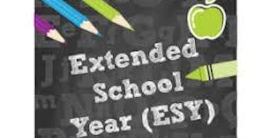 TELECONFERENCE: EXTENDED SCHOOL YEAR SERVICES: WHAT YOU NEED TO KNOW.
