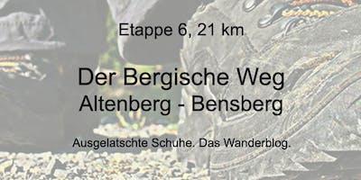 Wanderung auf dem Bergischen Weg - Etappe 6: Altenberg bis Bensberg (21 km)