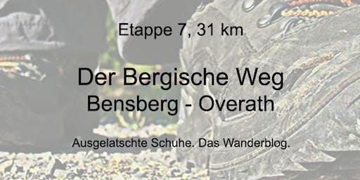 Wanderung auf dem Bergischen Weg - Etappe 7: Bensberg bis Overath (31 km)