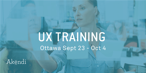 UX Professional Training & Certification, OTTAWA - September 2019