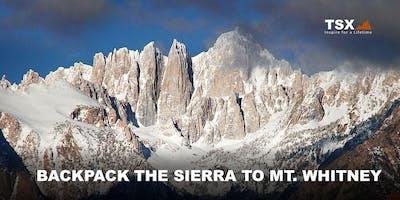 Backpack the Sierra to Mt. Whitney - REI Santa Rosa