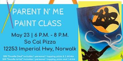 Parent N Me Paint Class - SoCal Pizza