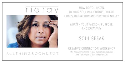 Soul Speak- A Creative Connection Workshop with Ria Ray