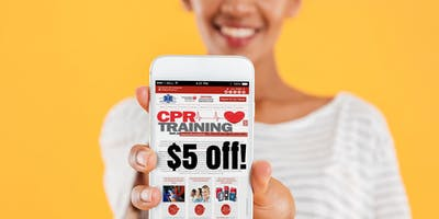 Save $5 off any class.  Use the coupon now for all cpr aed first aid classes