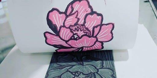 Linoleum Block Printing Class-Youth