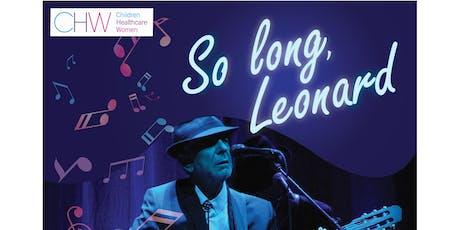So Long, Leonard tickets