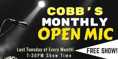 Cobb's Monthly Open Mic