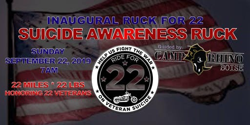 Ride for 22 presents Inaugural Ruck for 22