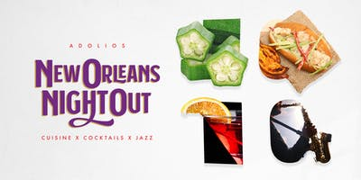 New Orleans Night Out - 5 Course Meal + Drinks + Jazz