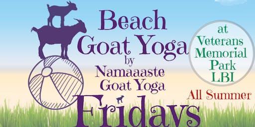 Beach Goat Yoga LBI Fridays 12pm: Namaaaste Goat Yoga