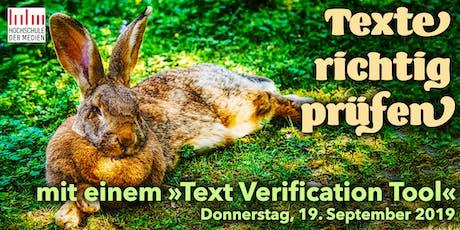"""IDUGS #57 """"Texte richtig prüfen"""" Tickets"""