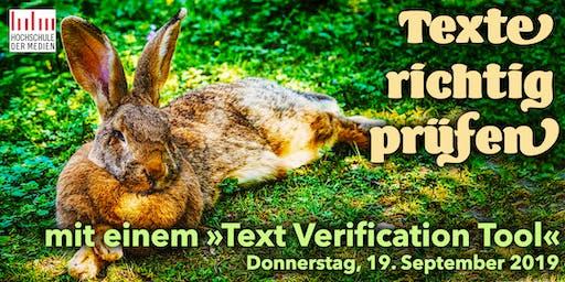 """IDUGS #57 """"Texte richtig prüfen"""""""