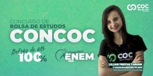 CONCOC CONCURSO DE BOLSA DE ESTUDOS e AULÃO- CURSO ENEM