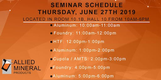 Allied Mineral Products Aluminum Seminar (Session 3)