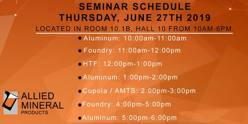 Allied Mineral Products Foundry Seminar (Session 1)