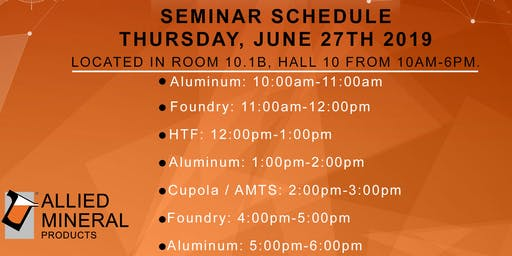 Allied Mineral Products Foundry Seminar (Session 2)