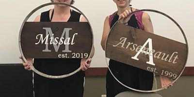 Rustic Sign Workshop at Chris James Cellars