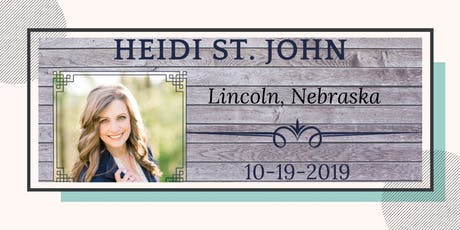 Heidi St. John - Lincoln, NE tickets