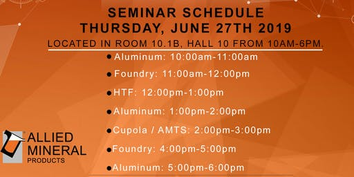 Allied Mineral Products Cupola / AMTS Seminar