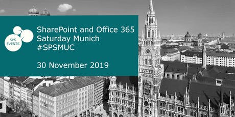SharePoint and Office 365 Saturday Munich 2019 Tickets